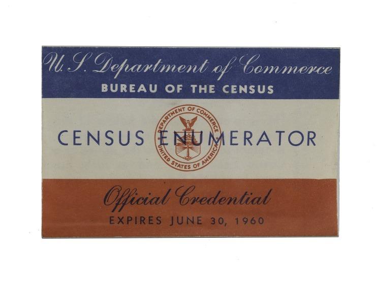Census Enumerator Badge, 1960