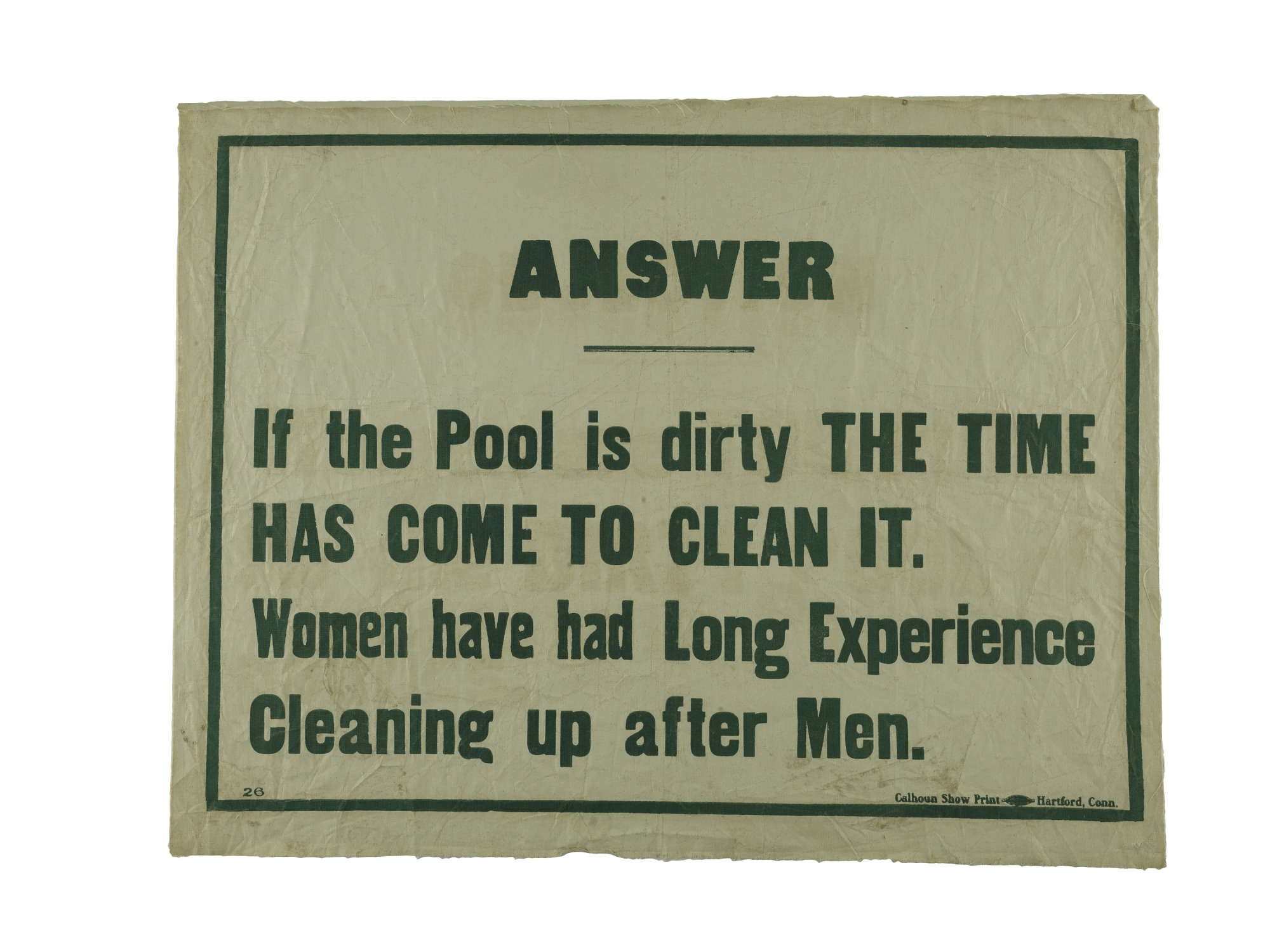 "images for Woman Suffrage ""Answer"" Banner"