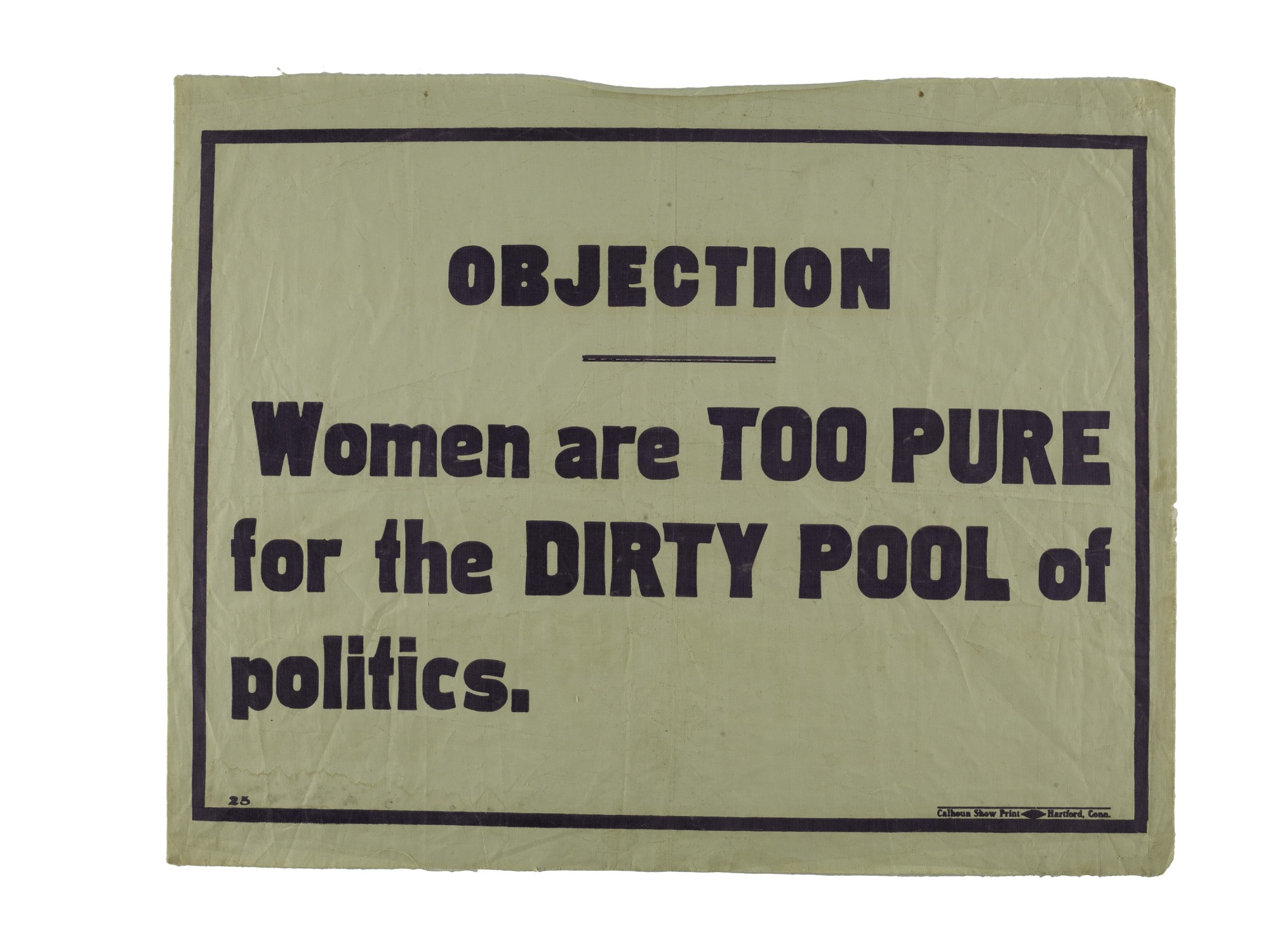 """images for Woman Suffrage """"Objection"""" Banner"""