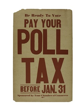 Poll Tax Sign, 1960s