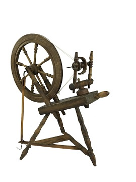 spinning wheel, flax