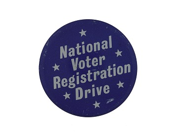 Button, National Voter Registration Drive