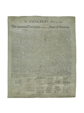 Print, Declaration of Independence, 1823
