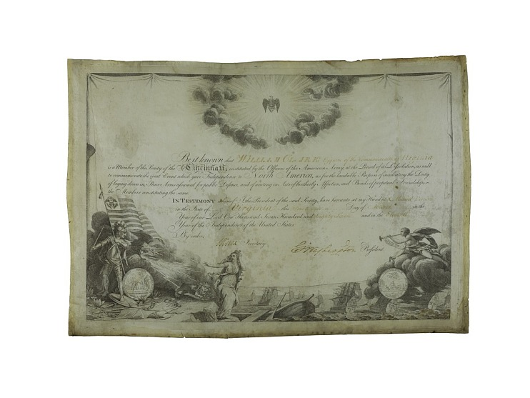 Membership Certificate, Society of Cincinnati, 1787