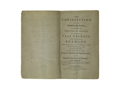 The Constitution of the Pennsylvania Society for Promoting the Abolition of Slavery