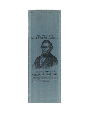 Fillmore Campaign Ribbon, 1856
