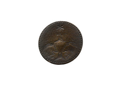 Commemorative Clothing Button, George Washington, 1789