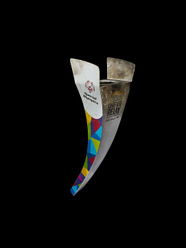 Special Olympics torch from the 2015 World Games in Los Angeles