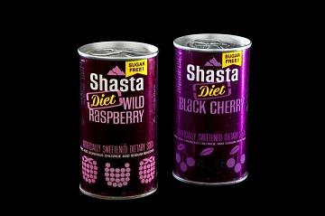 Shasta Diet Black Cherry Can