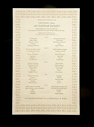 Menu, 1976 Gold Rush Zinfandel at Chez Panisse