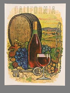 "Poster, ""Wine Land of America"""