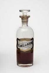 Pharmacy stock bottle: Tr. Belladon. (Tincture Belladonna)