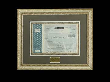 E-Trade Stock Certificate