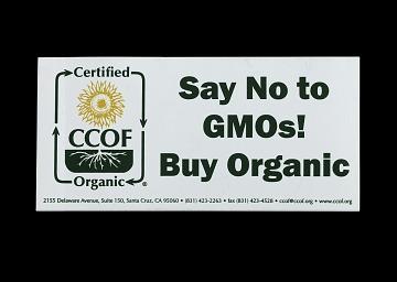 Say No to GMOs! Buy Organic Sticker