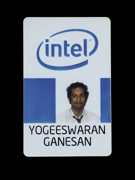 Yogeeswaran Ganesan's Intel ID Badge