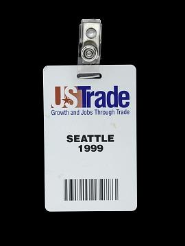 1999 WTO Badge