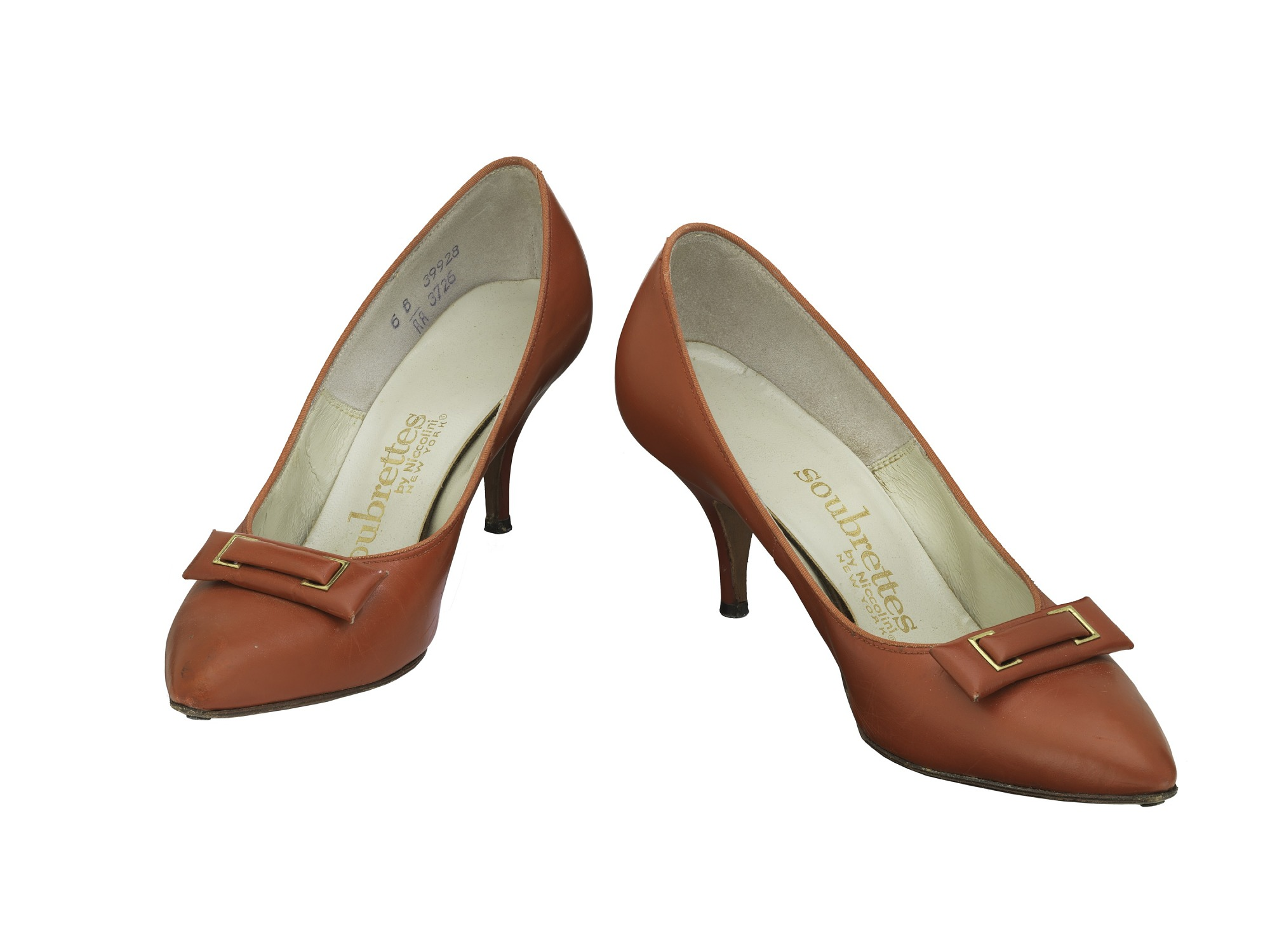images for Women's Red Leather Shoes