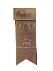 """Pitt"" Name Tag"