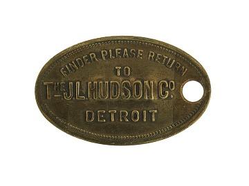 JL Hudson's Credit Token, 1919