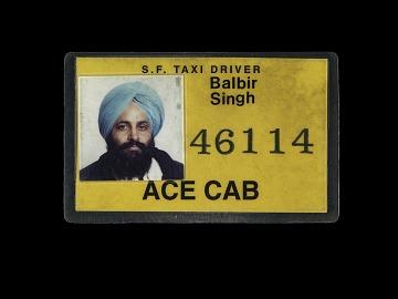 San Francisco Taxi Driver ID Card