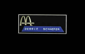 McDonald's Employee Name Badge