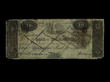Ten Dollar Bank of the United States Note, 1840s