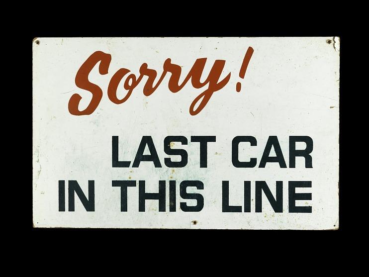 Gasoline Shortage Sign, 1973