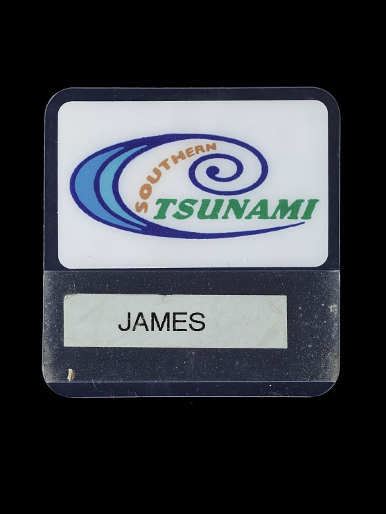 James Kyaw's Southern Tsunami Name Tag