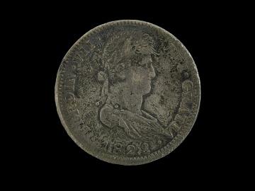 Spanish Silver Dollar, 1821