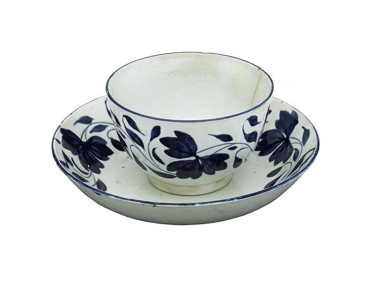 Pearlware Tea Bowl and Saucer
