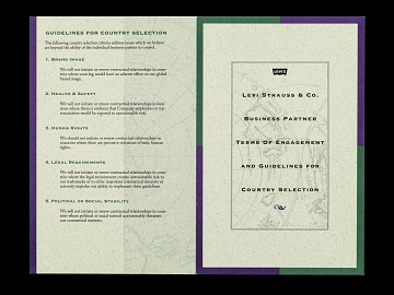 Levi Strauss, 1991 Terms of Engagement (English)