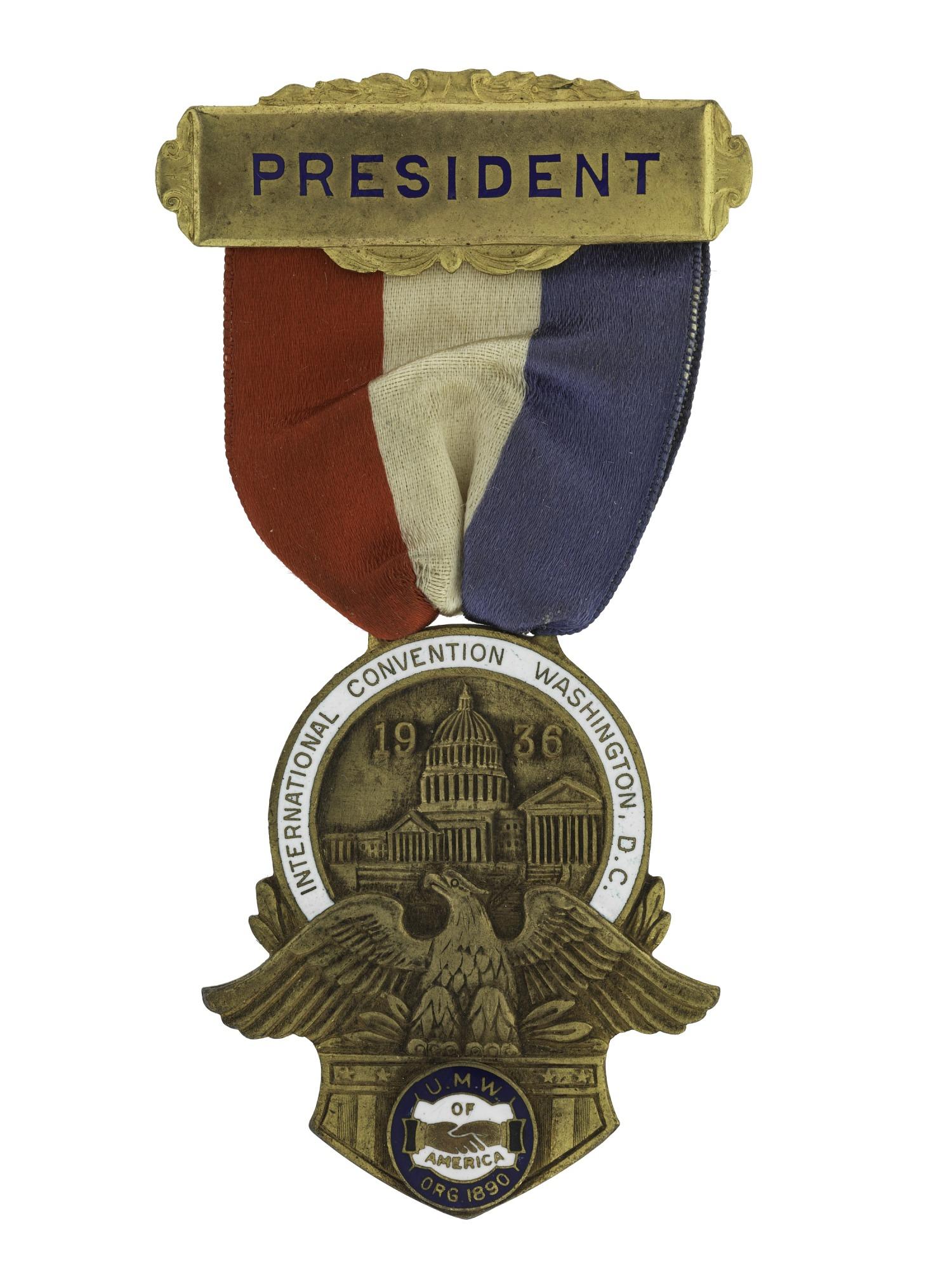 images for John L. Lewis' Union Badge