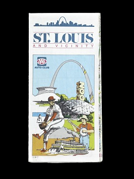 Road Map of St. Louis, ca 1989