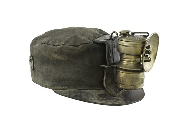 Miner's Cap and Carbide Lamp