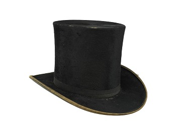Black Beaver Top Hat