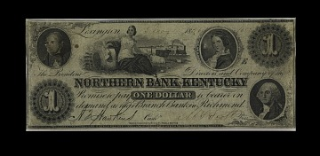 1 Dollar Northern Bank of Kentucky Note, 1856