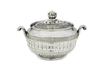 Silver Luster Sugar Bowl