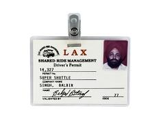 Balbir Singh LAX Shuttle Driver Permit