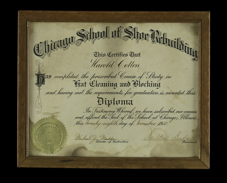 Harold Cotton, Sr. Diploma