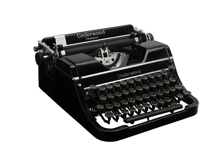 Raoul Cortez's Underwood Typewriter