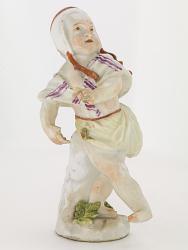 Meissen figure of a girl dancing