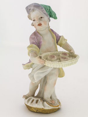 Meissen figure of a child pastry seller