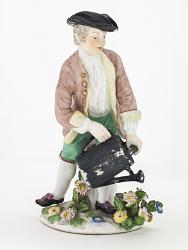 Meissen figure of a gardener