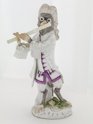 Meissen figure from the Monkey Band