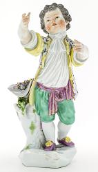 Meissen figure of a boy