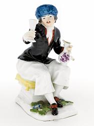 Meissen figure of a drinker