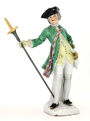 Meissen figure of a pikeman