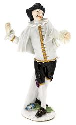 Meissen figure of Scaramouche