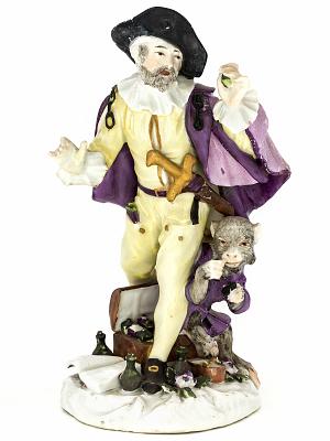 Meissen figure: the quack doctor