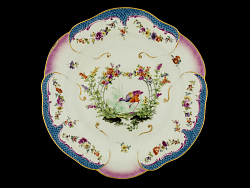 Meissen plates: one of a pair